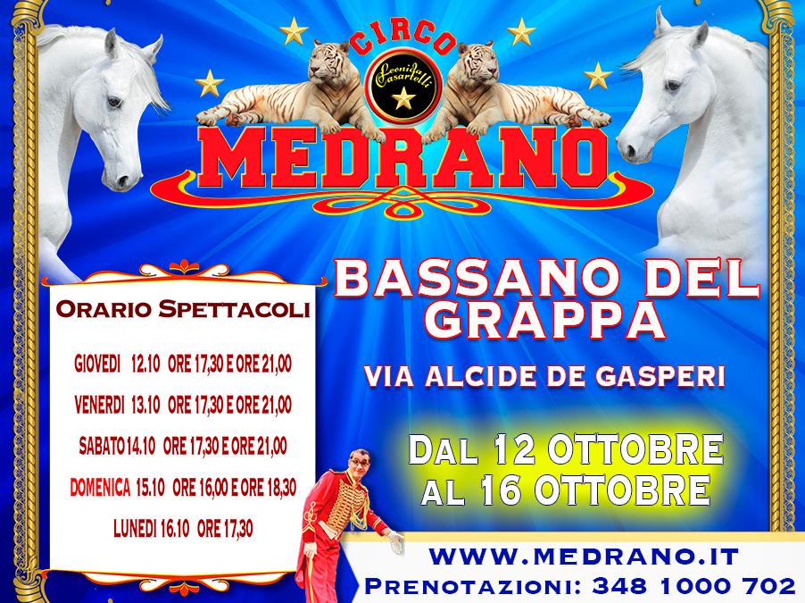 BASSANO DEL GRAPPA –  VIA ALCIDE DE GASPERI – DAL 12.10.2017 AL 16.10.2017