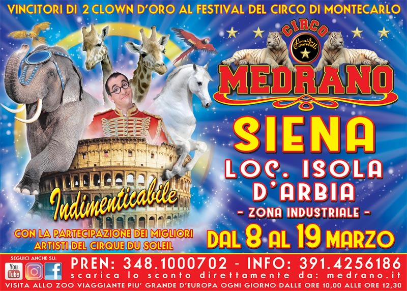 Siena 2018 – Zona industriale Isola d'Arbia dal 08 al 19 Marzo