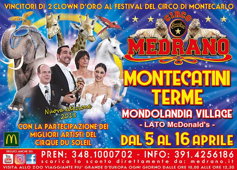 Montecatini Terme 2018 –  Mondolandia  Village, lato  Mc Donald's  – dal 05 al 16 Aprile