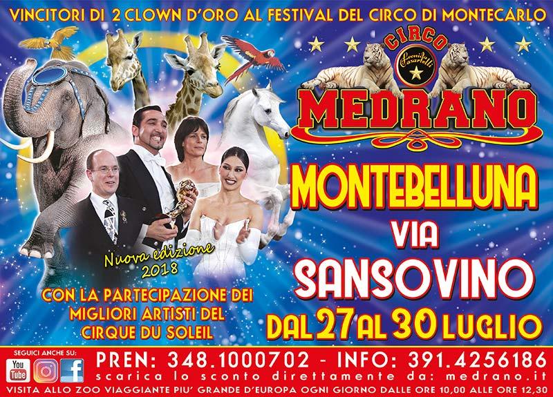 Montebelluna 2018 – Via Sansovino – Dal 27 al 30 Luglio